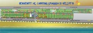 Mappa Camping Spiaggia di Velluto